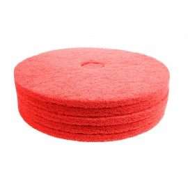"Floor Machine Pads - Super Polish - Spray Buff - 20"" (50.9 cm) - Red - Box of 5 - 66261054279"