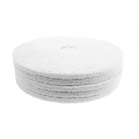 "Floor Machine Pads - Super Polish - Spray Buff - 20"" (50.8 cm) - White - Box of 5 - 66261054212"