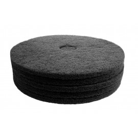 """Floor Machine Pads - for Stripping - 21"""" (53.3 cm) - Black - Box of 5 - 66261054231"""