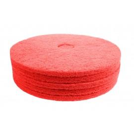 """Tampons pour polisseuse à plancher - super polissant - pour vaporiser/polir - 21"""" (53,3 cm) - rouge - boîte de 5 - 66261054280"""
