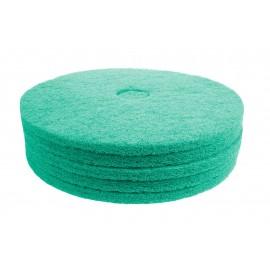 """Tampons pour polisseuse à plancher - pour brunissage à haute vitesse - 24"""" (60,9 cm) - aqua - boîte de 5 - 66261004247"""