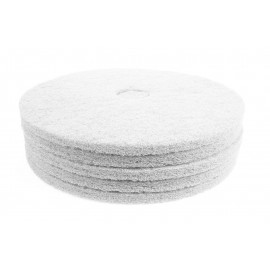 "Floor Machine Pads - Super Polish - Spray Buff - 27"" (68.6 cm) - White - Box of 5 - 66261005121"
