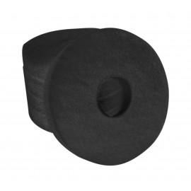 """Tampons pour polisseuse à plancher - pour décaper - 6,5"""" (16,5 cm) - noir - boîte de 5 - 66261001833"""