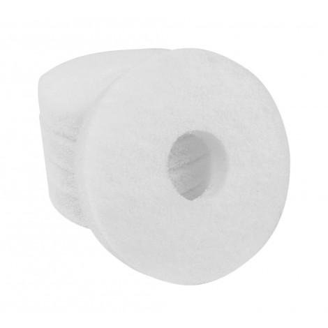 "Floor machine Pads - Super Polish - Spray Buff - 6.5"" (16.5 cm) - White - Box of 5 - 66261008823"