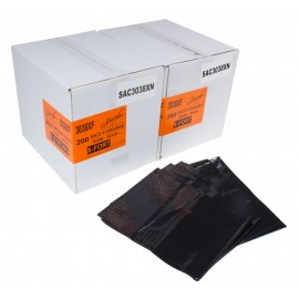 "Commercial Garbage / Trash Bags - Extra Strong - 30"" x 38"" (76.2 cm x 96.5 cm) - Black - 2 Boxes of 200"