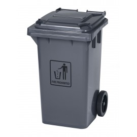 """Trash Garbage Can Bin with Lid - on Wheels - 31.6 gal (120 L) - Grey 19' x 19"""" X 35H"""
