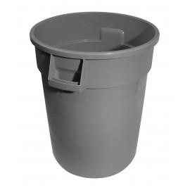 Round Trash Garbage Can Bin - 44 gal (167 L) - Grey