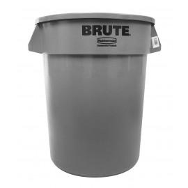 Round Trash Garbage Can Bin - 32 gal (121 L) - Grey - Rubbermaid RUB2632-16 GRAY