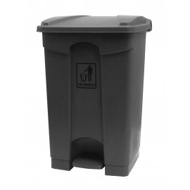 Trash Garbage Can Bin with Lid and Pedal - 11 gal (45 L) - BIN45ST - Grey