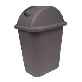 Trash Garbage Can Bin with Swing Lid - 6.3 gal (24L) - Brown