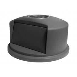 Couvercle bombé avec cendrier - pour poubelle de 32 gal (145,4 L) - gris pale