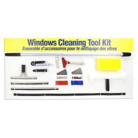 Ensemble comprenant tous les outils nécessaires pour le lavage des vitres - 7pieds