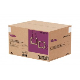 "Luncheon Napkins - 1 Ply - 12.5"" x 11.5"" (31.7 cm x 29.2 cm) - Box of 12 Packs of 500 Napkins - White - Cascades N020"