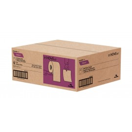 "Paper Hand Towel - 7.8"" (19.8 cm) - Width - Roll of 425' (129.5 m) - Box of 12 Rolls - Brown - Cascades Pro H045"