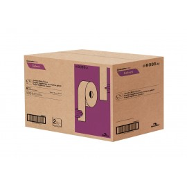 "Commercial Jumbo Bathroom Tissue - 2-Ply - 3.3"" x 600' (8.4 cm x 182.9 m) - Box of 8 Rolls - White - Cascades Pro B085"