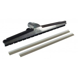 "1½ X 18 ""Industrial Brush for Water, Floors, with Changeable Rubber Blades"