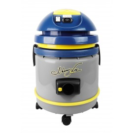 Commercial Vacuum Johnny Vac - Tank Capacity of 4 gal (15 L) - Accessories and Paper Bag Included - Integrated Electrical Outlet - 1000 W Motor - Swivel Casters