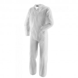 Disposable Coverall Large Size - Breathable non-woven polypropylene material that provides a lightweight protective barrier