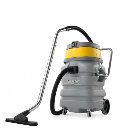 Wet & Dry Commercial Vacuum - 23 gal (90 L) Tank Capacity - 8' (2.5 m) Flexible Hose - Metal Wand - Brushes & Accessories - Guibli AS59 PD SP