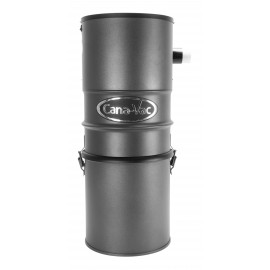 Central Vacuum - Canavac - CV587 - Silent - 540 Airwatts - 4 gal (16 L) Tank Capacity - Wall Mount Bracket - Microtex Filter - HEPA Bag