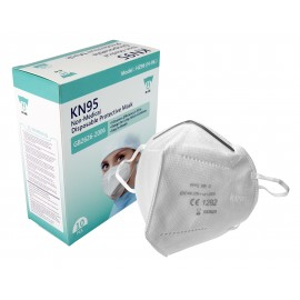 Masque respirateur KN95 - Boîte de 10 - Produits à utiliser contre le coronavirus (COVID-19)