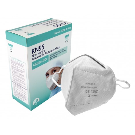 Respirator Mask KN95 - Products for use against coronavirus (COVID-19) - Pack of 10 Masks
