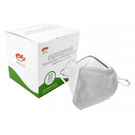 Masque respirateur KN95 - Produits à utiliser contre le coronavirus (COVID-19)- paquet de 20 masques