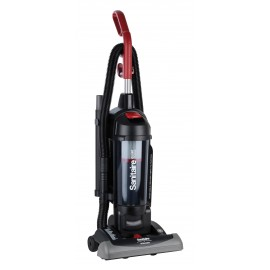 Bagless Upright Vacuum, Sanitaire, HEPA Filter, Force Quiet Clean, SC5845B - Used