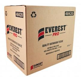 Papier hygiénique de qualité - 2 épaisseurs - 48 rouleaux de 420 feuilles - SUNSET Everest Pro 48420