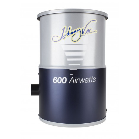 Central Vacuum Johnny Vac - JV600C - Compact - 600 Airwatts - 3 gal (12 L) Tank Capacity - HEPA Bag - Foam Filter