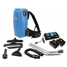 2-Speed Battery Powered Backpack Vacuum - Johnny Vac - Capacity of 1.58 gal (6 L) - HEPA Filtration - with Accessories and Superior Quality Harness