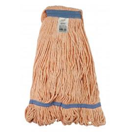 Tête de vadrouille / moppe synthétique de rechange - bouclée à bandes étroites - 450 g (16 oz) - orange