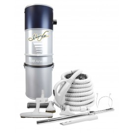 Central Vacuum Kit from Johnny Vac - 35' (10 m ) Hose - Air Power Nozzle - Floor Brush - Upholstery Brush and multiple accessories