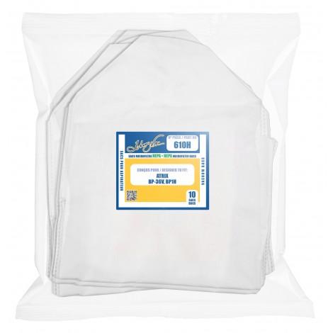 Sac microfiltre HEPA pour aspirateur Atrix BP36V et BP1H - paquet de 10 sacs - VACBP6-10P