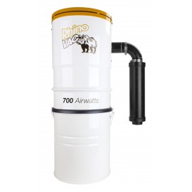 Central Vacuum from RhinoVac - 700 Airwatts - 15 L (4 gal) Tank Capacity - HEPA Bag - Made in Canada