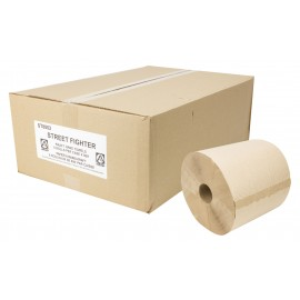 Paper Hand Towel - Roll of 800' (243.8 m) - Box of 6 Rolls - Brown - StreetFighter ST8002