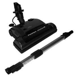 """Power Nozzle - 12"""" (30.5 cm) Cleaning Path - Adjustable Height - Quick Connect Release - Black - Flat Belt - Telescopic Wand - Headlight - Roller Brush - Johnny Vac PN33BK - Refurbished"""