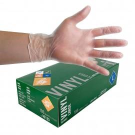 Gants de vinyle taille large de The Safety Zone - sans latex - transparent - sans poudre - paquet de 100