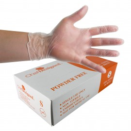 Small size Vinyl Gloves from Chef Designed - powder free - clear - disposable - pack of 100