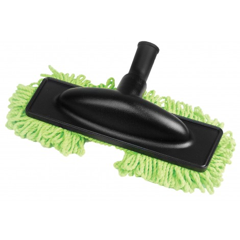 "Microfiber Dust Mop - 1 1/4"" (32 mm) dia - Cleaning Path 12"" (30.5 cm) - Black and Green"