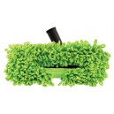 """Microfiber Dust Mop - 1 1/4"""" (32 mm) dia - Cleaning Path 12"""" (30.5 cm) - Black and Green"""