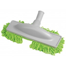 "Microfiber Dust Mop - 1 1/4"" (32 mm) dia - Cleaning Path 12"" (30.5 cm) - Grey and Green"
