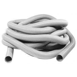 "Hose for Central Vacuum - 30' (9 m) - 2"" (50 mm) dia - Grey - Metal Reinforced"