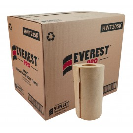 Hand Paper Towel - 205 ft per Roll - Box of 24 Rolls - Brown - SUN205K
