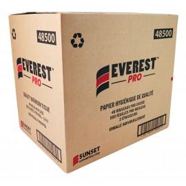 Papier hygiénique de qualité - 2 épaisseurs - 48 rouleaux de 500 feuilles - SUNSET Everest Pro 48500