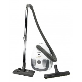 Canister Vacuum - Johnny Vac Prima - HEPA Bag - Carpet and Floor Brush - Telescopic Handle - Set of Brushes - Refurbished