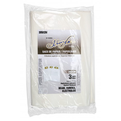 Sac microfiltre pour aspirateur central Beam, Eureka, Electrolux et Kenmore - paquet de 3 sacs - Envirocare 4462JV