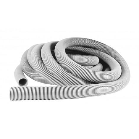 "Hose for Central Vacuum - 50' (15 m) - 2"" (50 mm) dia - Grey - Anti-Crush - Zephlex - Plastiflex CZ100200050PI"