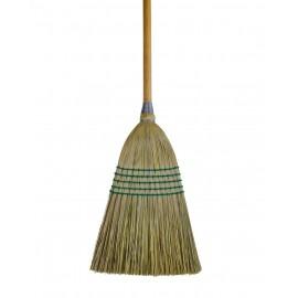 Balai de paille pour usage domestique et commercial - largeur de nettoyage de 25.4 cm (10po) - manche en bois - 5 cordres