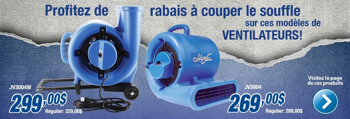 Ventilateurs JV3004 et JV3004W